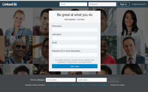 Linkedin Main Page